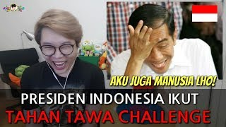 Video PAK JOKOWI IKUT 'TAHAN TAWA CHALLENGE' MP3, 3GP, MP4, WEBM, AVI, FLV November 2018