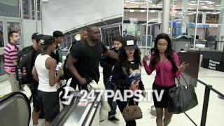 Rihanna Not Having It at JFK Airport IN NYC 07-29-14