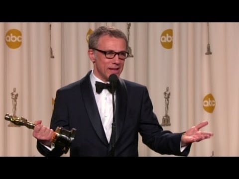 Waltz - 2013 Best Supporting Actor Oscar winner Christoph Waltz answer questions backstage at the Academy Awards. For more CNN videos, visit our site at http://www.c...