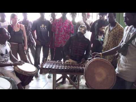 Fantastic Balaphone, djembe & dunun players in Conakry, Guinea