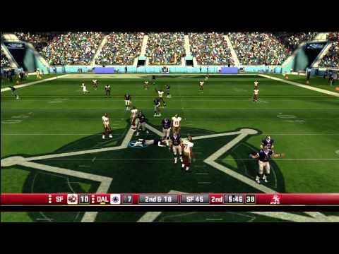 All Pro Football 2K8 Full Online Game Play NFLHITMAN ( Cowboys ) VS NTQ03 ( 49ers )