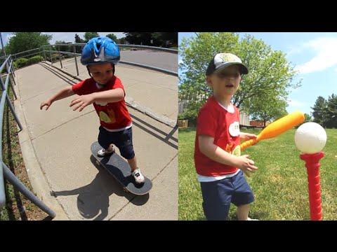 Father Son Skateboard & Baseball Time!_A valaha feltöltött legjobb extrémsport videók