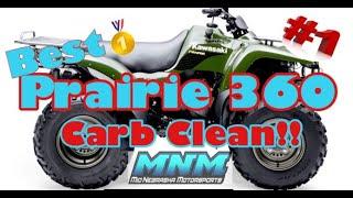 6. HOW TO - Kawasaki Prairie 360 Carburetor Clean Carb Rebuild Kit Gas Fuel Cleaner GUMOUT Repair Kit