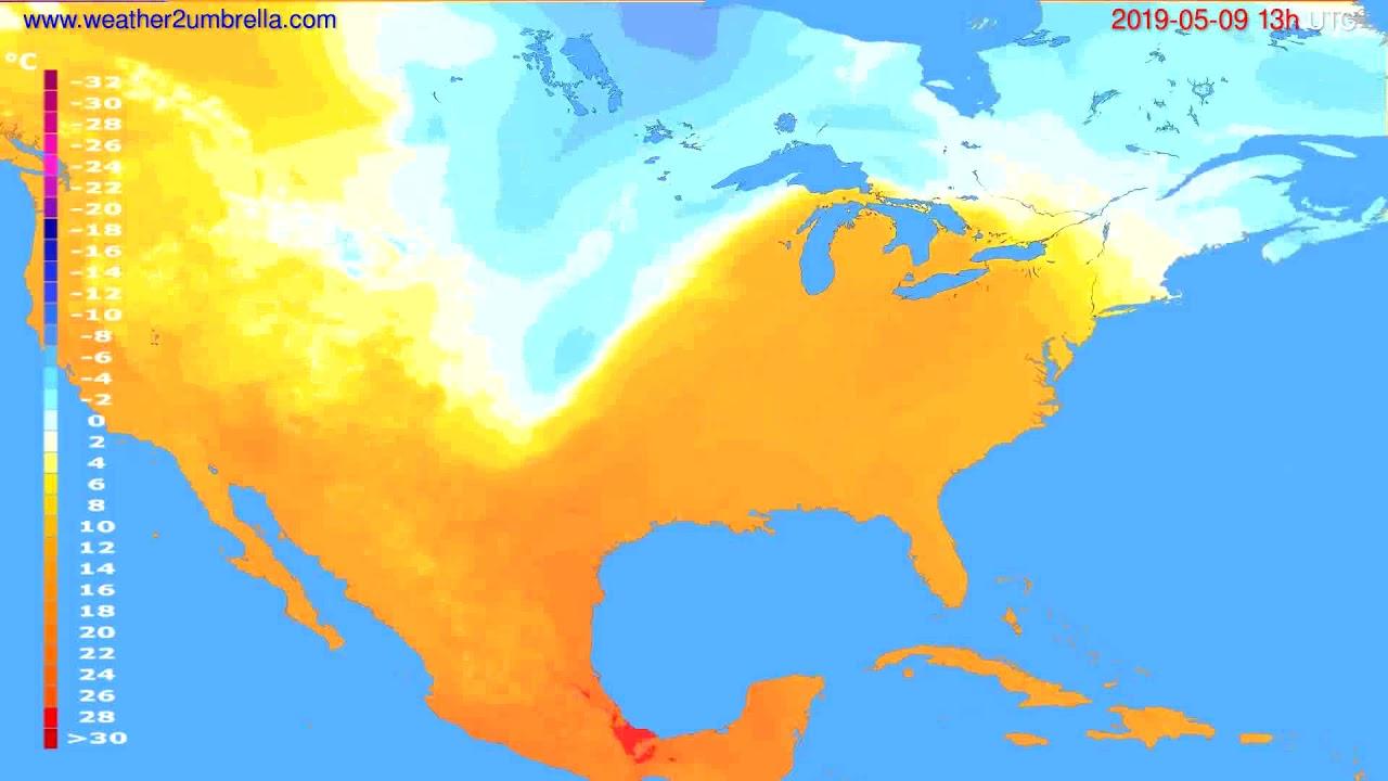 Temperature forecast USA & Canada // modelrun: 12h UTC 2019-05-07