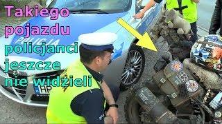 """""""Nie wiem co zrobić"""" – policjant z wąsem vs. gość na dziwnym motocyklu!"""