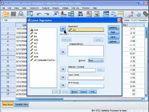Multiple Regression - SPSS (part 1)