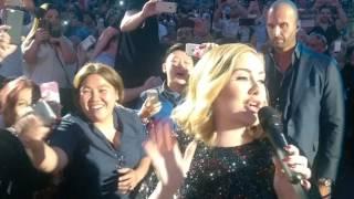 Video Adele - FANTASTIC CLOSE UP WALK PAST! in Verona Arena Italy - 'Hello' Entrance 28th May 2016 MP3, 3GP, MP4, WEBM, AVI, FLV Juni 2019