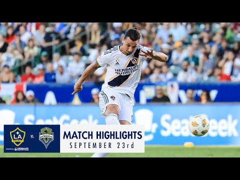 Video: HIGHLIGHTS: LA Galaxy vs. Seattle Sounders FC | September 23, 2018