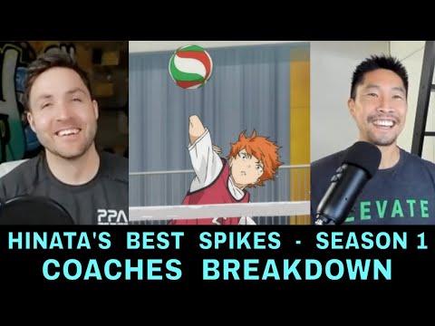 Coaches Breakdown HINATA'S BEST SPIKES from Season 1 (Part 1)