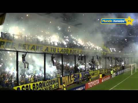 Video - Recibimiento Boca - River /Copa Libertadores 2015/ - La 12 - Boca Juniors - Argentina