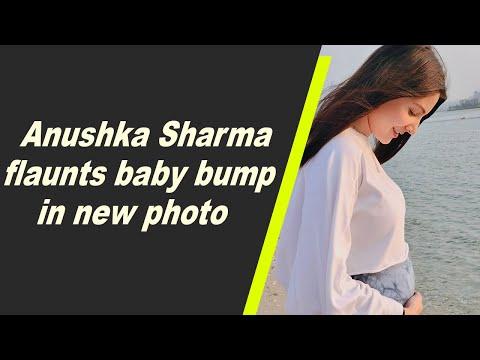 Anushka Sharma flaunts baby bump in new photo