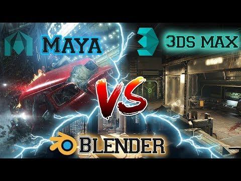3D Studio Max vs Maya vs Blender