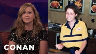 Jenna Fischer Broke The Glass Ceiling At Long John Silver's  - CONAN on TBS