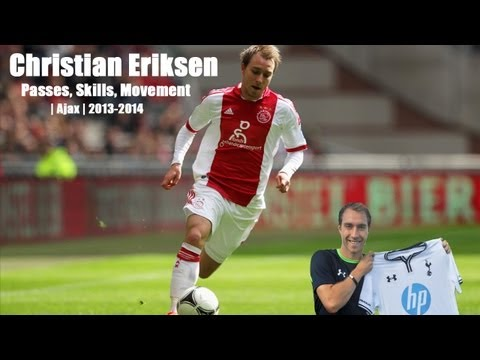 eriksen - Compilation of Christian Eriksen's best bits in his first five performances for Ajax in current season 2013/2014. Enjoy! 21 year old Danish creative playmake...