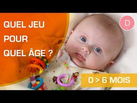 Quels jeux pour un bébé de 0 à 6 mois ?