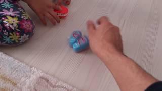 oyuncaklar yarışıyor, küçük kurulabilen oyuncakları yarıştırdık.
