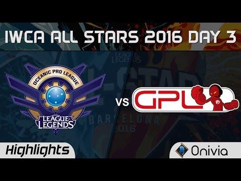 OPL vs GPL 1 vs 1 Highlights IWCA Barcelona 2016 D3 Oceania vs SouthEast Asia