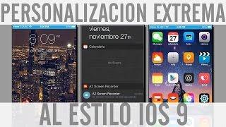 PERSONALIZA TU ANDROID como un IPHONE CON IOS 9 (PERSONALIZACION EXTREMA) En Español, ios 9, ios, iphone, ios 9 ra mat