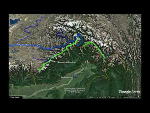 Chinese Dams On Rivers In Tibet