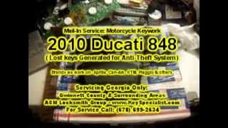 10. Locksmith Duluth GA: 2010 Ducati 848 - Lost Motorcycle Key With Chip Made!