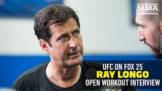At UFC on FOX 25 open workouts, coach Ray Longo discussed the whereabouts of Matt Serra, Saturday's event on Long Island, his first memories at Nassau Coliseum, the pressure of fighting at home, Chris Weidman vs. Kelvin Gastelum, and much more.Subscribe: http://goo.gl/dYpsgHCheck out our full video catalog: http://goo.gl/u8VvLiVisit our playlists: http://goo.gl/eFhsvMLike MMAF on Facebook: http://goo.gl/uhdg7ZFollow on Twitter: http://goo.gl/nOATUIRead More: http://www.mmafighting.comMMA Fighting is your home for exclusive interviews, live shows, and more for one of the world's fastest-growing sports. Get latest news and more here: http://www.mmafighting.com