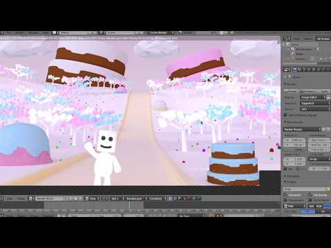 Blender Intro Course Tutorial - Making A Candyland (4/5)