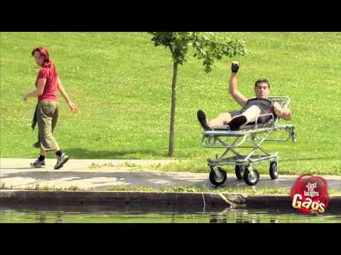 Stretcher In Water Prank