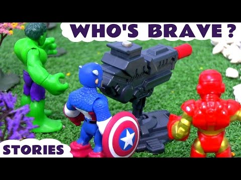 Superheroes Spiderman And Avengers Hulk Captain America Iron Man Who's Brave Toys Stories TT4U