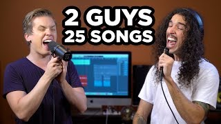 Video 2 Guys, 25 Songs (SING OFF vs. Ten Second Songs) MP3, 3GP, MP4, WEBM, AVI, FLV Desember 2017
