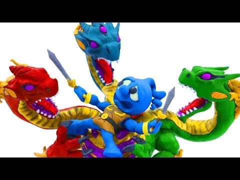 Tiny Slays Immortal Legendary Hydra - Movie Stop Motion Animation Cartoons