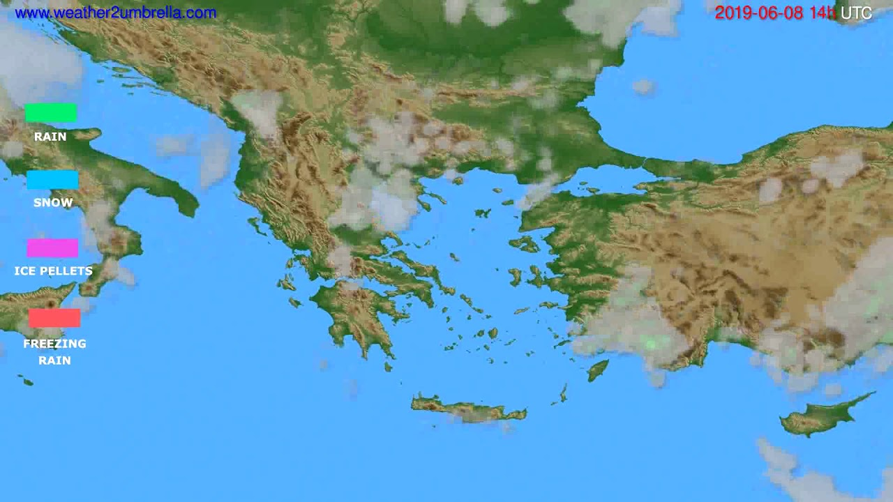 Precipitation forecast Greece // modelrun: 12h UTC 2019-06-06