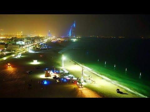 Night swimming UAE