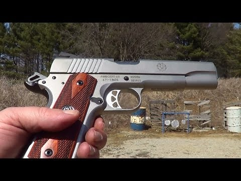 ruger - The SR1911 is Ruger`s first 1911 design pistol. Chambered for 45acp. Fixed sights and stainless steel construction. For more info on this pistol see the vide...
