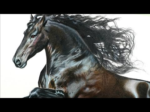 Drawing a horse with 3D technique