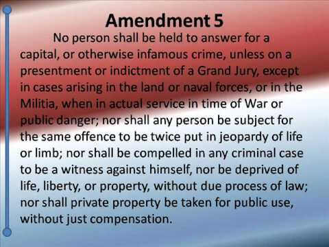 Bill of Rights -- Hear and Read the 10 amendments -- US Constitution