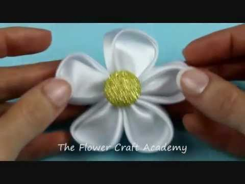How to Make a Kanzashi Flower - Tutorial