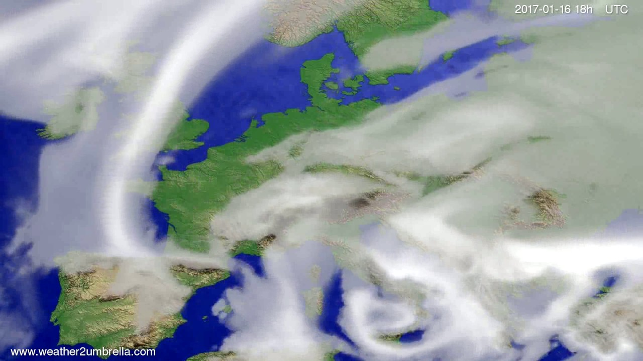 Cloud forecast Europe 2017-01-13