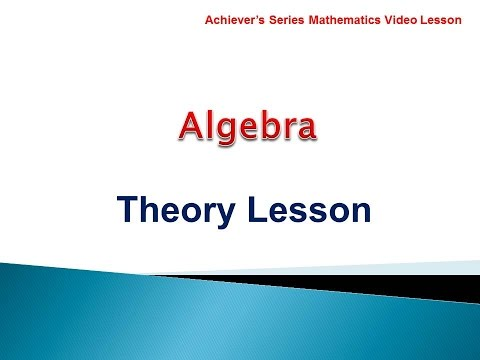 Algebra for O level Maths