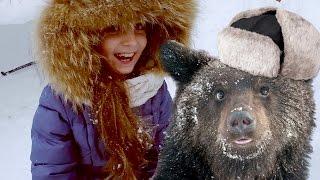 Нарвались на берлогу с медведем