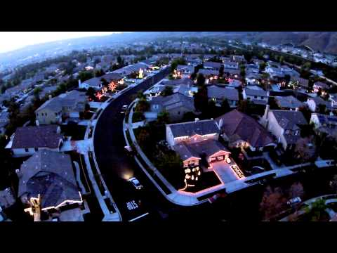 Иллюминация коттеджного поселка
