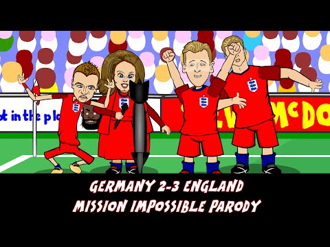 Germany vs England 2-3 MISSION IMPOSSIBLE PARODY (Friendly goals and highlights)