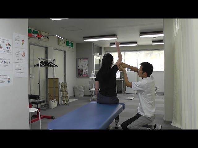【施術動画】右腕を上げると肩に詰まり感がでる 疼痛誘発動作で原因筋を評価する
