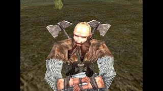 Fight between Dwalin and Lothlorien heroes: Haldir, Celeborn and Grimbeorn in Lord of The Rings: The Battle for Middle Earth II- The Rise of the Witch-King- Edain Mod.It is rematch where Dwalin uses his hammer.