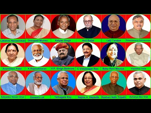 CURRENT GOVERNORS OF INDIA 2018 | INDIAN STATES AND GOVERNORS LIST | भारत के राज्यपाल