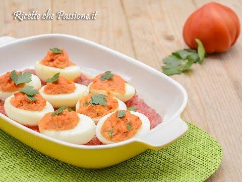 uova sode ripiene al forno - ricette