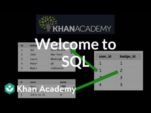 Welcome to SQL (video) | SQL basics | Khan Academy