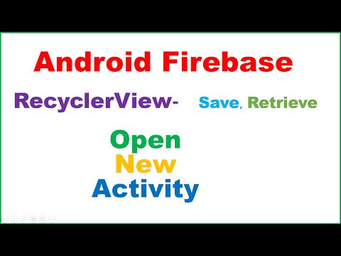Android Firebase : RecyclerView Master Detail  [Open Activity]