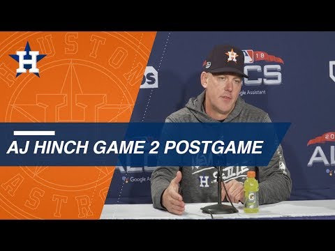 Video: ALCS Gm2: Hinch discusses Game 2 loss to the Red Sox