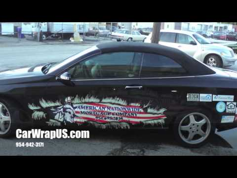 Mercedes Partial 3M Vinyl Car Wrap, American Nationwide Mortgage Co.Fort Lauderdale