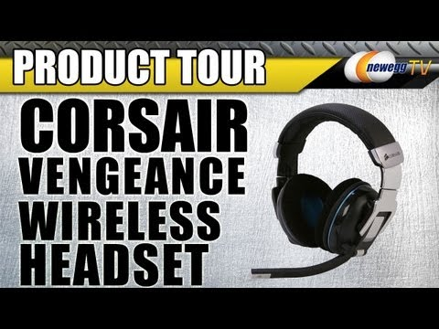 Wireless - http://www.newegg.com | Headset: http://bit.ly/11CmlI4 26-816-008 The Vengeance 2000 wireless gaming headset gives you realistic multi-channel gaming audio a...